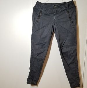 free people dark gray Utility pants trousers size4